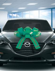 giant green bow for cars with congratulations graduate message