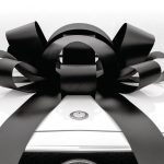 Big Car Bow, Large Black Car Bow
