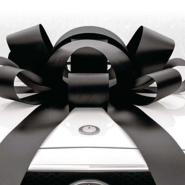 Big Car Bow, Large Black Car Bow