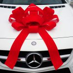 Red Velvet Car Bow