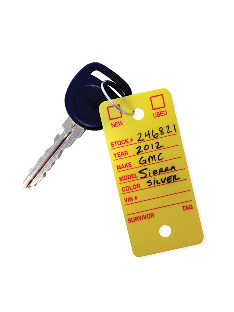 Automotive Poly Key Tags