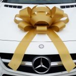 Large Gold Car Bow