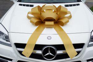 Large Gold Car Bow