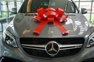Red Velvet Car Bow