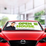 Custom Windshield Banners, Custom Message Windshield Banners
