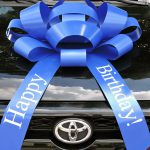 Big Blue Happy Birthday Car Bow