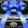 Big Blue Happy Birthday Car Bow