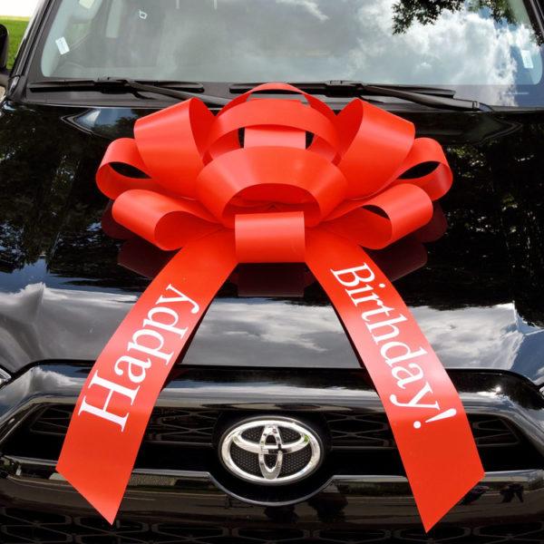 Big Red Happy Birthday Car Bow