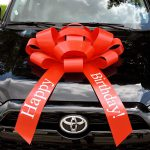 Large Happy Birthday Car Bow