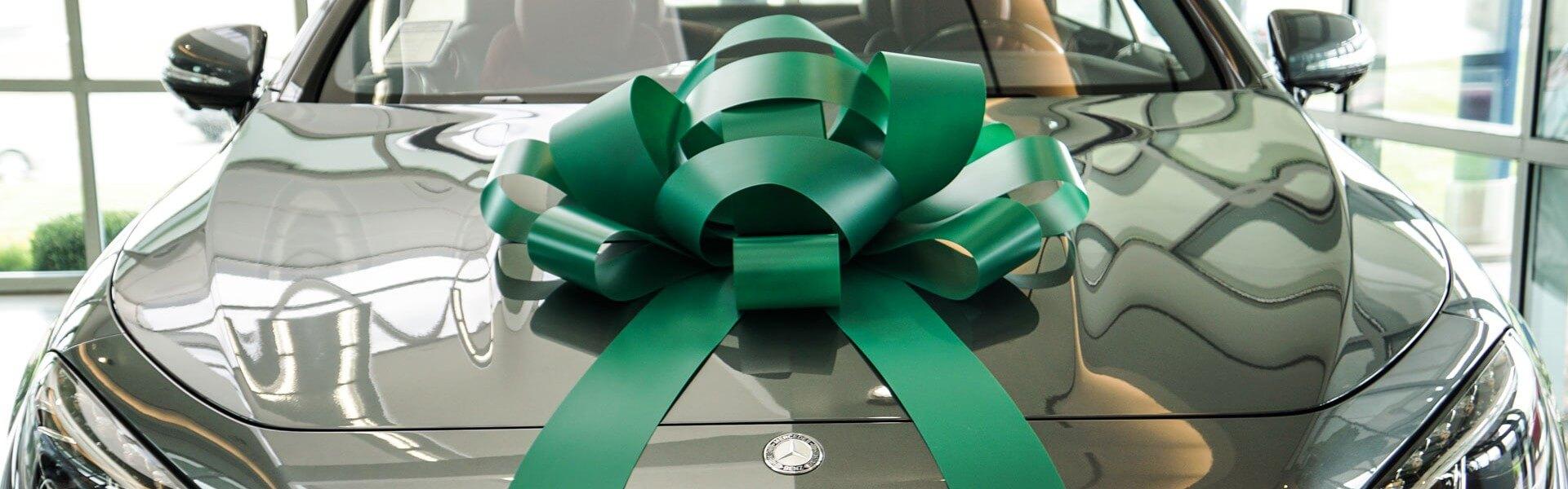 big green car bow
