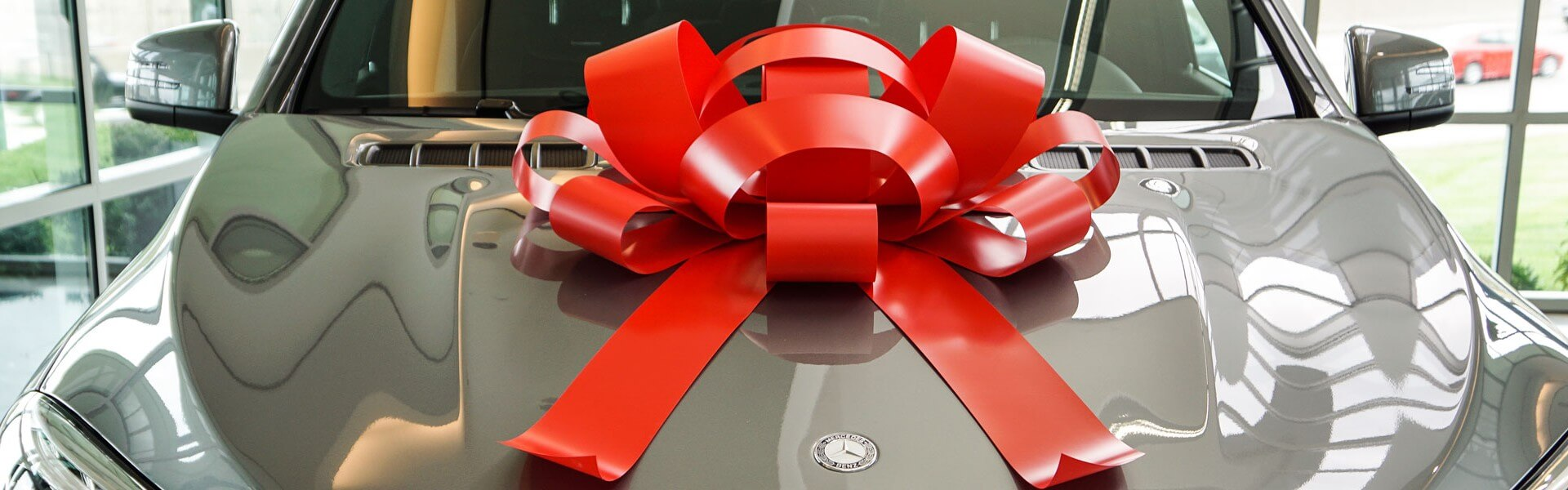 giant red bow for car
