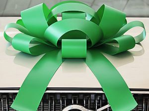 Large Green Car Bow