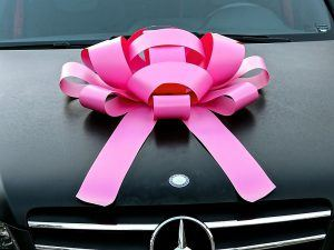 Large Pink Car Bow