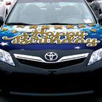 Car Bow Hoodie - Blue
