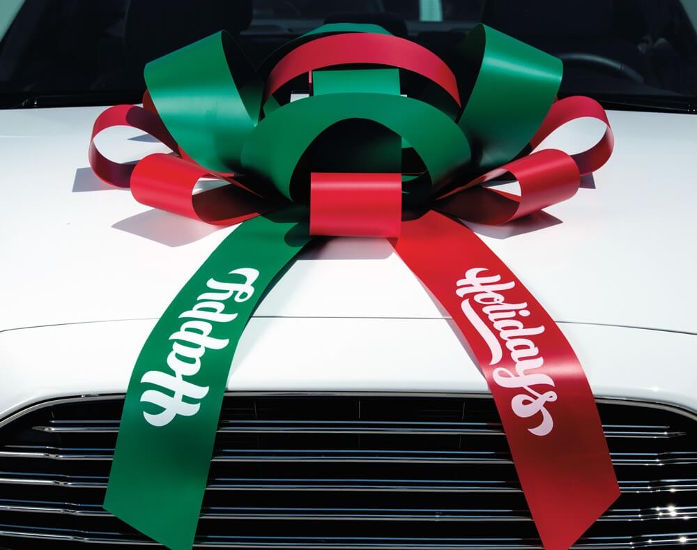 Happy Holidays Car Bow