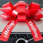 Giant Merry Christmas Car Bow