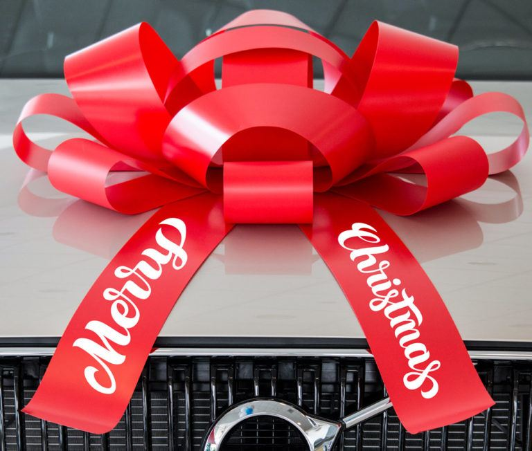 Giant Car Bow: Giant Merry Christmas Car Bow With Magnetic Base
