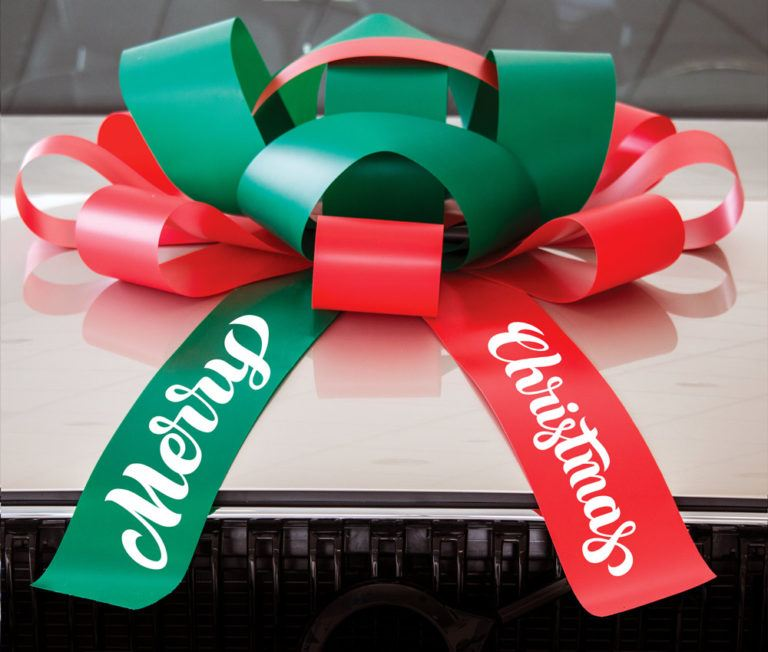 Merry Christmas Car Bow