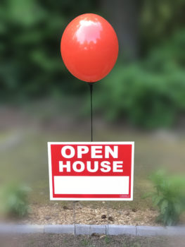 open house balloon kit with helium free balloon