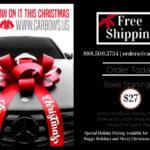 happy holidays merry Christmas car bow