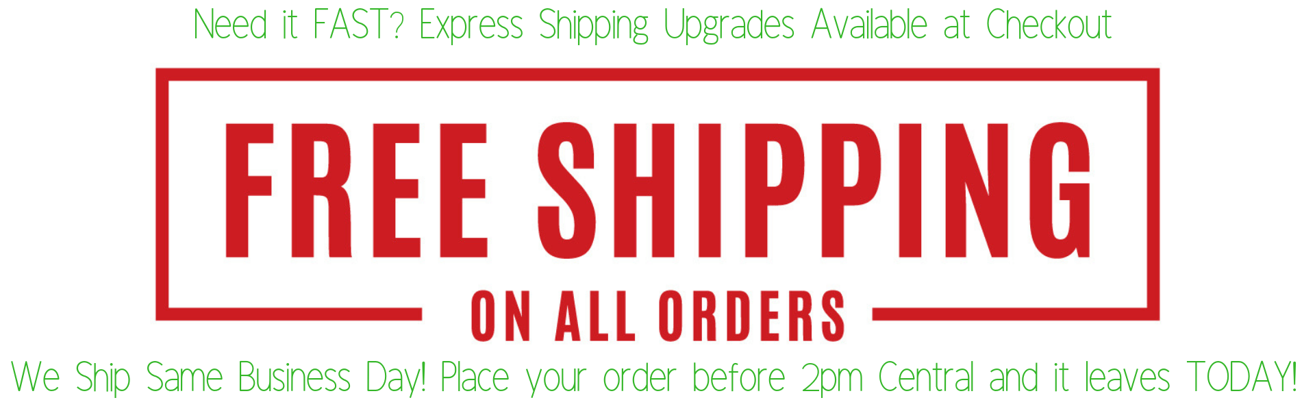 fast and free shipping on all car bows