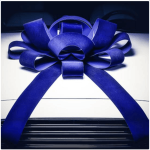 beautiful large blue car bow