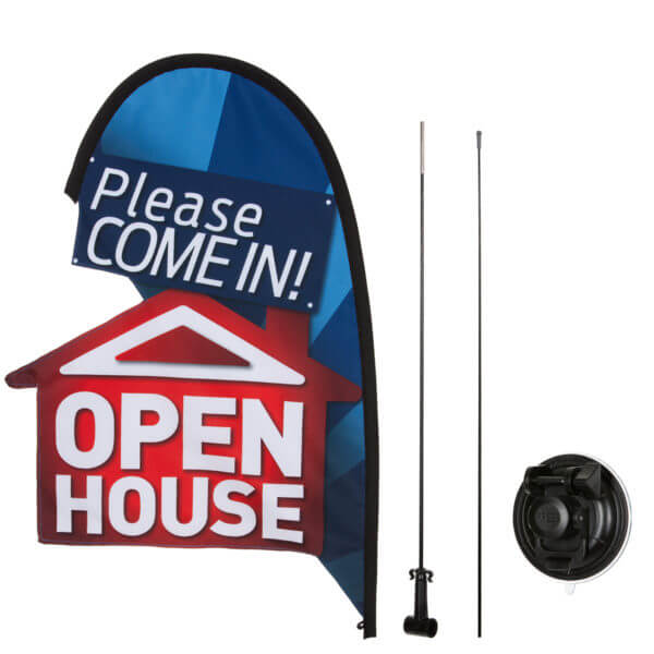 Open house real estate flag