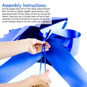 giant gift bow easy assembly