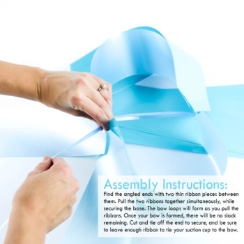 teal pull bow with suction cup assembly instructions
