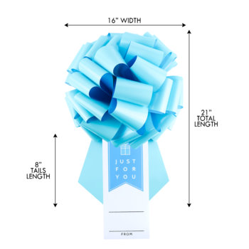 tiffany blue suction cup bow with a gift tag dimensions